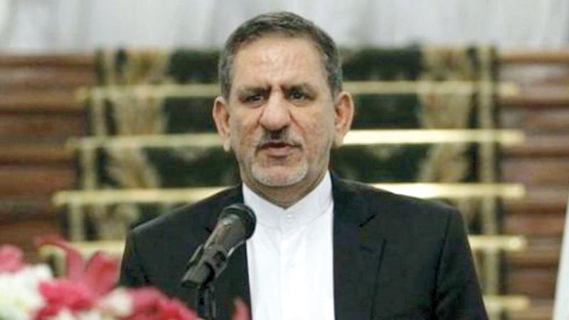اسحق جهانجيري يدعو إلى مصارحة الإيرانيين بآثار العقوبات.  أرشيفية