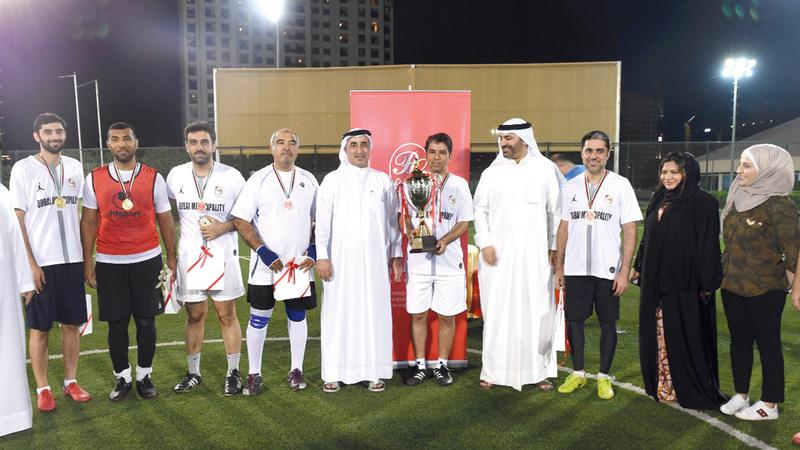 فريق برواز دبي فاز على فريق برج خليفة بنتيجة 2-صفر في نهائي البطولة. من المصدر