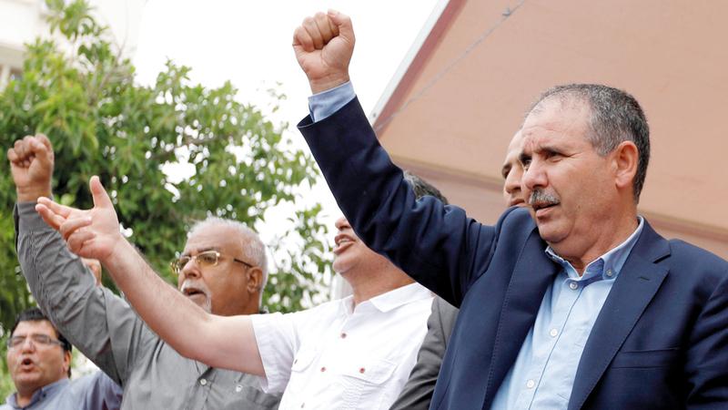 أمين الاتحاد العام للشغل التونسي نور الدين الطبوبي.  رويترز