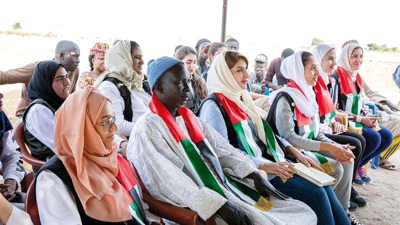الوفد شارك أهالي القرية في بعض الفعاليات. من المصدر