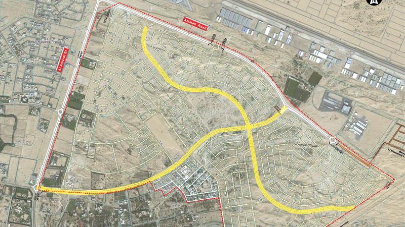 مخطط رصف الطرق في منطقة الخوانيج الثانية. من المصدر