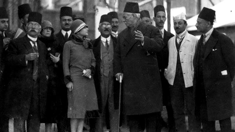 سعد زغلول ورفاقه قبيل ثورة 1919. أرشيفية