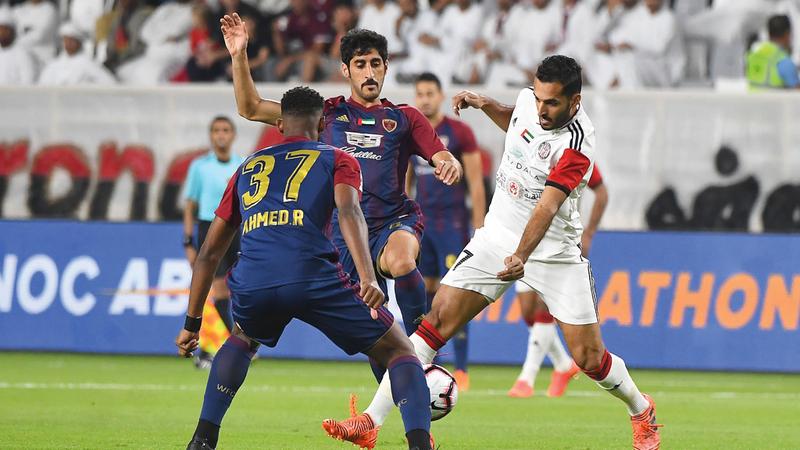 الوحدة خسر أمام الجزيرة 2-1 في الجولة الـ10 من الدوري. تصوير: إريك أرازاس
