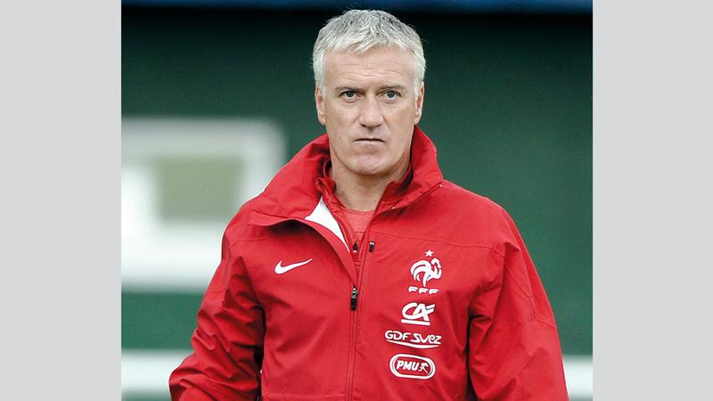 مدرب منتخب فرنسا ديديه ديشامب. أ.ف.ب