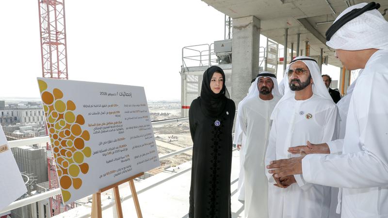 محمد بن راشد استمع إلى شرح حول تقدم الأعمال التحضيرية لـ «إكسبو 2020 دبي». وام