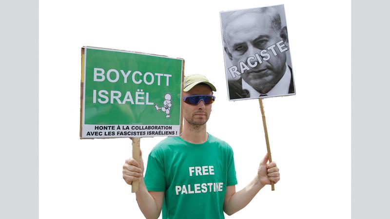 حملات عالمية لمقاطعة إسرائيل.  غيتي