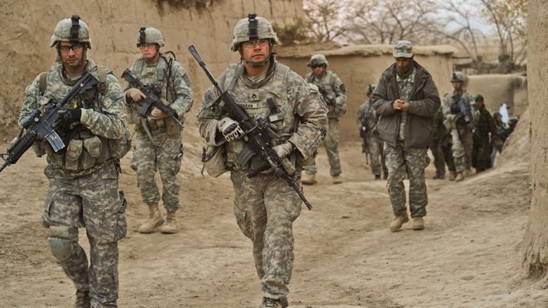 القوات الأميركية سيئة التجهيز والاستعداد لحرب عصابات  على النمط الأفغاني.  أرشيفية