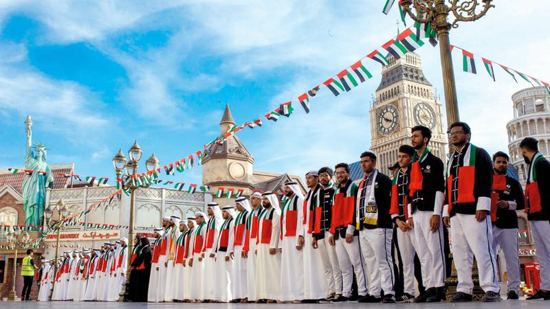 احتفالات «اليوم الوطني» تضمنت أنشطة وفعاليات متنوّعة منها عروض وطنية وبرامج تفاعلية مع الضيوف. من المصدر