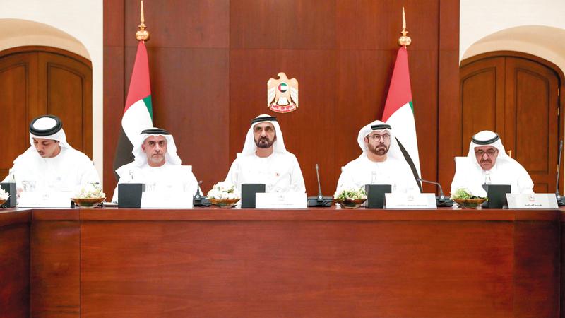 محمد بن راشد ترأس جلسة استثنائية لمجلس الوزراء عقدت بمقر الاتحاد النسائي العام.  وام