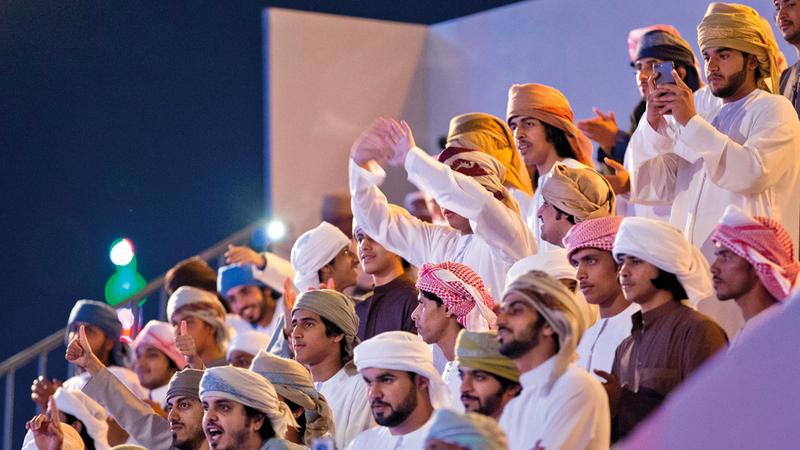 المنافسات تستقطب جمهوراً كبيراً على مستوى الإمارات والخليج العربي. أرشيفية