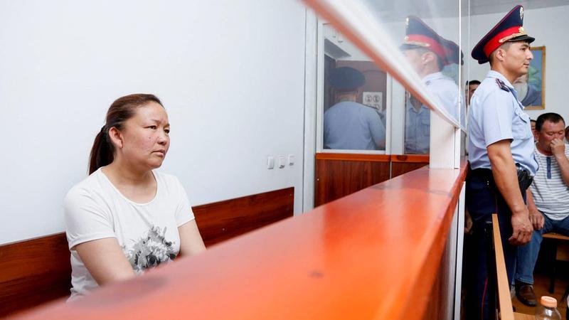 ساوتباي في قاعة المحكمة في كازاخستان. غيتي