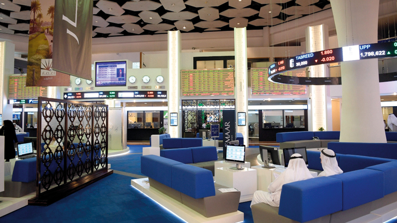سوق دبي المالي تراجع أمس بنسبة 1.63% ليغلق على 2632.15 نقطة. أرشيفية