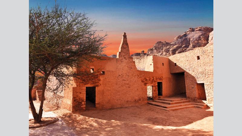 المواقع الأثرية  في محافظة العلا. من المصدر
