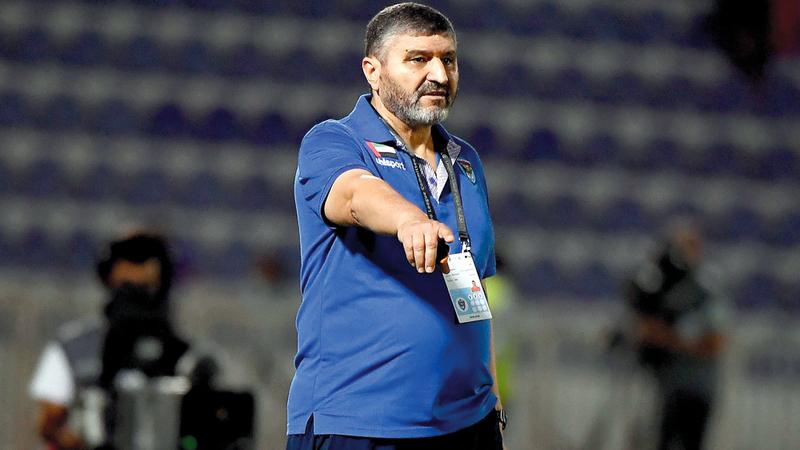 مدرب دبا الفجيرة محمد قويض: المباراة صعبة. تصوير: إريك أرازاس