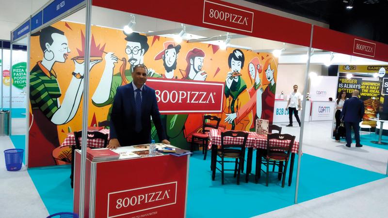 «800 بيزا» توسعت في الأسواق المحلية وتجري مباحثات لاستخدام العلامة التجارية الخاصة بالشركة.  الإمارات اليوم