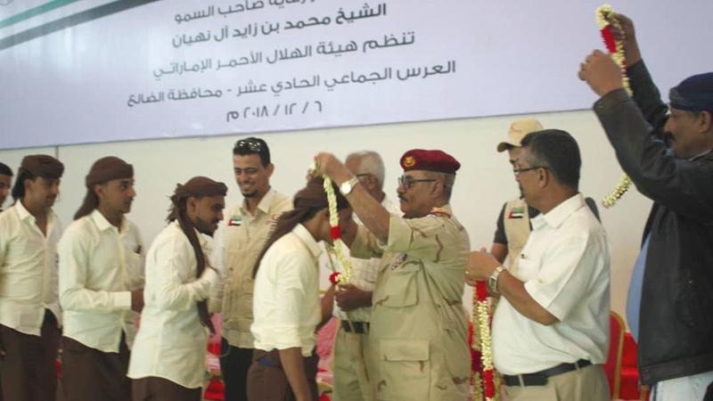 الأعراس الجماعية عملت على تعزيز النسيج الاجتماعي في اليمن.  وام