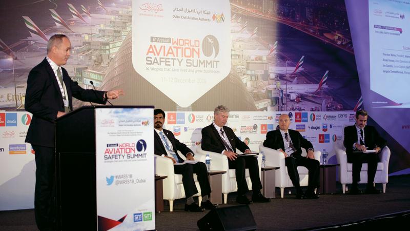 فعاليات الدورة السادسة من القمة العالمية لسلامة الطيران انطلقت في دبي. من المصدر