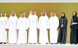 الصورة: ولي عهد دبي يكرّم الفائزين بجائزة حمدان بن محمد للابتكار في إدارة المشاريع