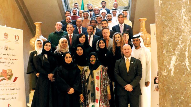 السفارة الإماراتية بالعاصمة روما استضافت فعاليات اليوم الثاني لـ «المهرجان». من المصدر