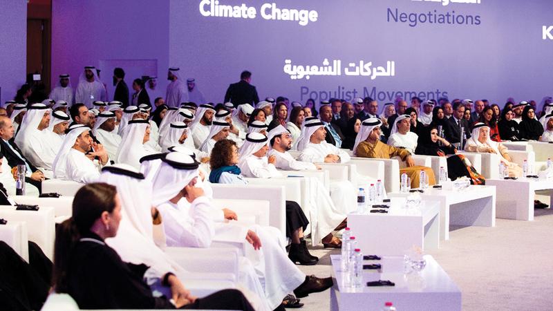 جانب من الجلسة الافتتاحية للمنتدى الاستراتيجي العربي.  من المصدر