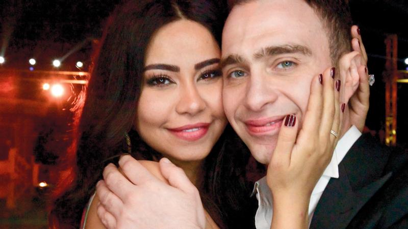 شيرين وحسام حبيب.