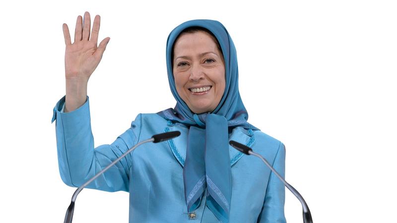 مريم رجوي قالت إن سنة واحدة من الانتفاضات كفيلة بالإطاحة بنظام طهران. أ.ف.ب