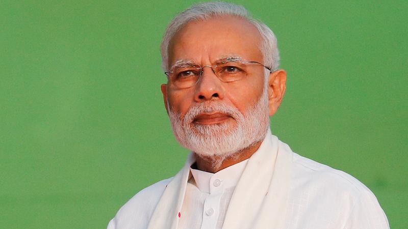 رئيس الوزراء الهندي ناريندرا مودي. عن المصدر