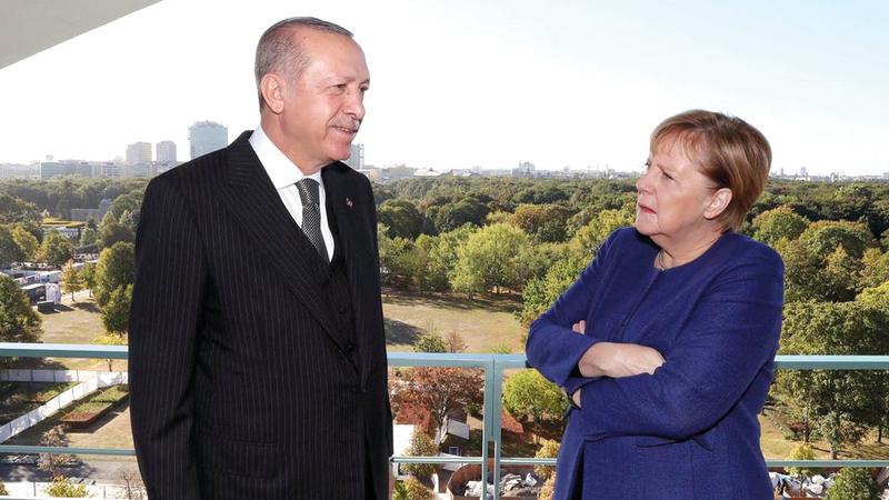 ميركل قالت إن «تركيا يجب ألا تصبح أبداً عضواً في الاتحاد الأوروبي». أرشيفية
