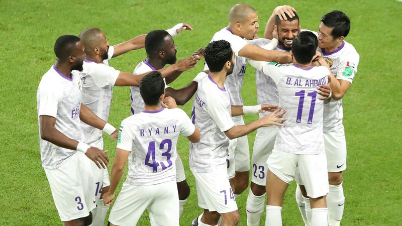 نجوم العين يحلمون برفع كأس العالم للأندية أمام ريال مدريد. رويترز