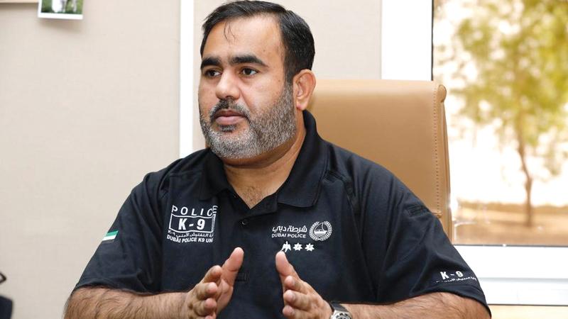 عارف مرشد:  «شرطة دبي تحرص  على تطوير العمل  الشرطي، واستخدام  أحدث التقنيات في  مجال مكافحة  الجريمة».