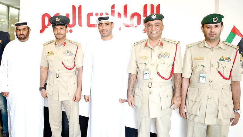 خلال اجتماع تنسيقي بين شرطة دبي وصحيفة «الإمارات اليوم».  الإمارات اليوم