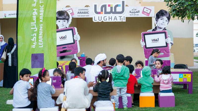فعاليات المهرجان تحقق المتعة والفائدة للأطفال عبر الأنشطة الترفيهية والثقافية. من المصدر