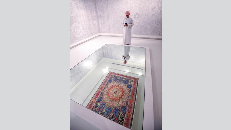 أعمال فنانين من 20 دولة حول العالم تضمها معارض المهرجان. تصوير: أشوك فيرما