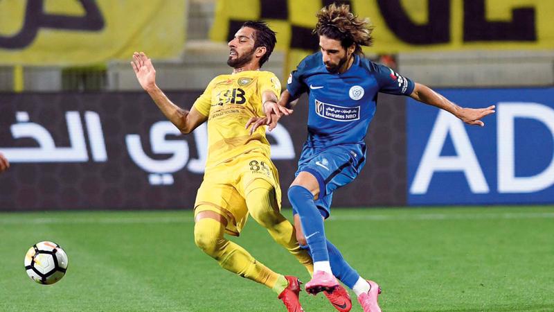 النصر سيواجه الوصل في ربع نهائي بطولة كأس الخليج العربي. الإمارات اليوم