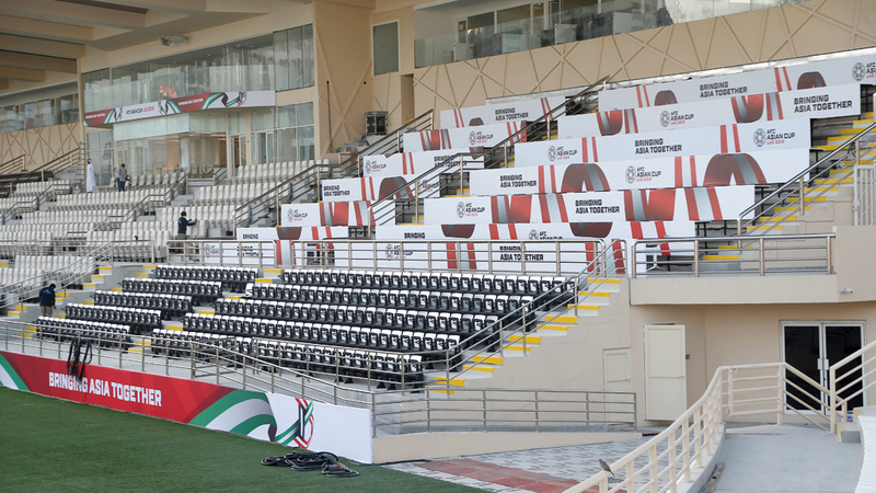 استاد آل نهيان بنادي الوحدة جاهز للبطولة. من المصدر