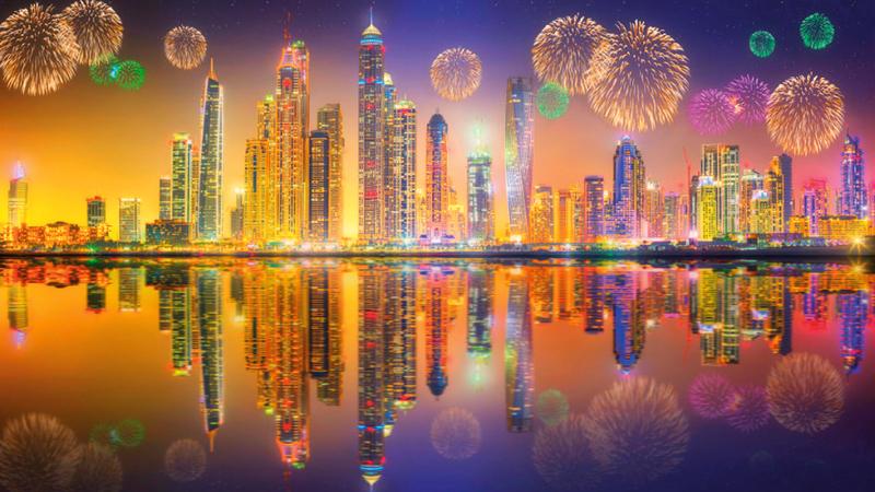 دبي وجهة العالم لمتابعة احتفالاتها ومفاجآتها في رأس السنة. أرشيفية