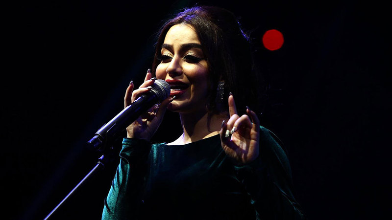 أريام شاركت في حفل ختام المهرجان. من المصدر