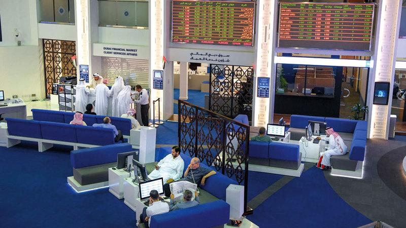 إجمالي قيم التداولات في سوق دبي المالي بلغ 59.6 مليار درهم خلال عام 2018. تصوير: أشوك فيرما