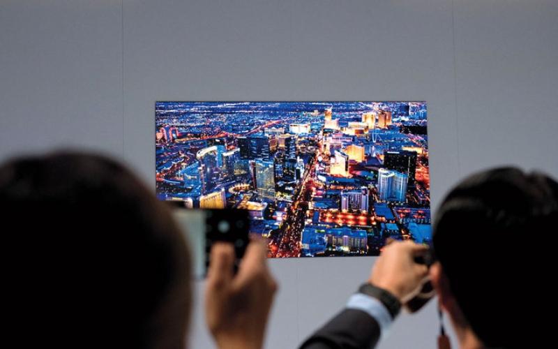 الصورة: «سامسونغ» تطلق تلفازاً ذكياً مزوداً بتقنية عرض جديدة