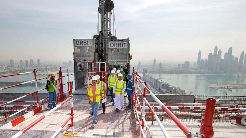 1.2 مليار درهم كلفة المشروع الذي يضم البرج. من المصدر