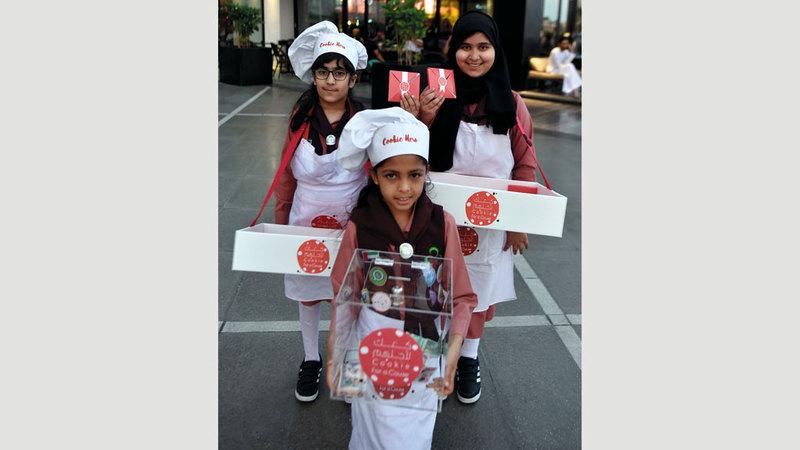 الحملة هدفت إلى تعزيز قيم العطاء في نفوس «الزهرات». من المصدر