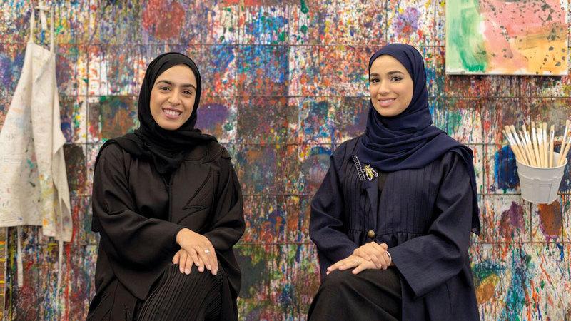 عالية (إلى اليمين) ونورة بدأتا مشروعهما الخاص في عام 2016.  من المصدر