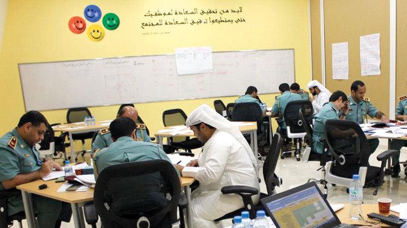 المعهد يقدّم دورات تدريبية في مجالات العمل الشرطي المتخصصة. من المصدر