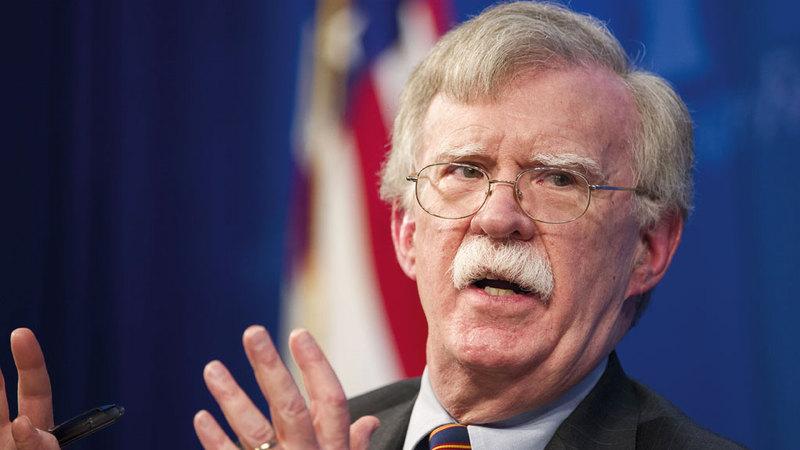 جون بولتون في مهمة لتهدئة مخاوف إسرائيل من الانسحاب الأميركي من سورية.  أ.ب