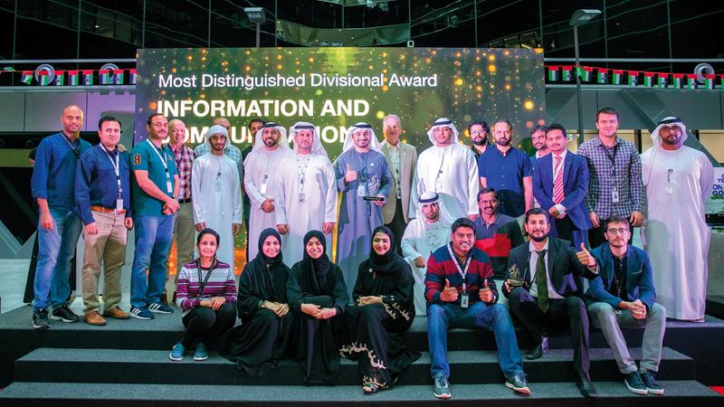خلال احتفال مؤسسة الإمارات للطاقة النووية بالفائزين بجائزة براكة للتميز. من المصدر