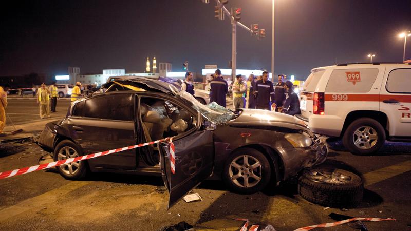 المتسببون في حوادث مرورية مكلفة يواجهون صعوبة في تجديد تأمين مركباتهم لدى الشركة ذاتها. أرشيفية