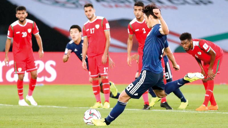 هارتوشي سجل هدف اليابان الوحيد من ركلة جزاء. أ.ف.ب