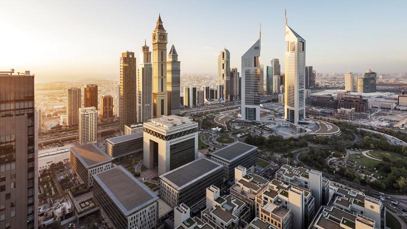 مركز دبي المالي العالمي يعد من المنصات الاستثمارية الجاذبة في العالم. أرشيفية