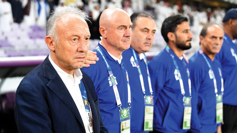 مدرب المنتخب الإيطالي ألبيرتو زاكيروني. تصوير: إريك أرازاس