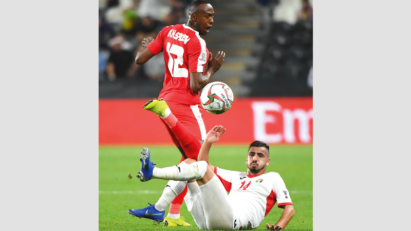 PLE vs JOR during match at the AFC Asian Cup in Abu Dhabi. January 15, 2018. Photo by Erik Arazas